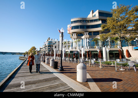 Waterfront Plaza at the Washington Harbour in Georgetown - Stock Photo