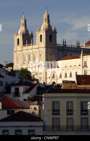 Igreja de São Vicente de Fora / Monastery of St. Vincent Outside the Walls, Alfama, Lisbon, Portugal - Stock Photo