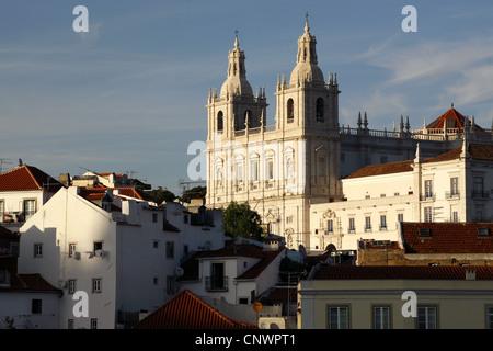 Igreja de São Vicente de Fora / Church or Monastery of São Vicente de Fora, Alfama, Lisbon, Portugal - Stock Photo