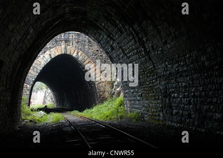 Old railroad tunnels on the Circum-Baikal Railway, the historical part of Trans-Siberian railway, on Lake Baikal, - Stock Photo