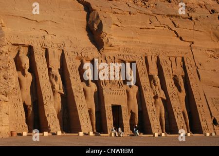 Nefertari Temple in Abu Simbel, Nubia, Egypt. - Stock Photo