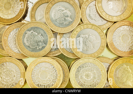 sterling currency coins £2 denomination [two pound]