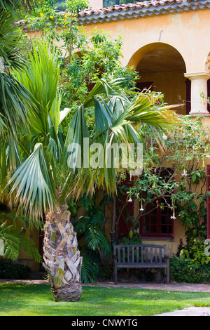 Jardin Botanique Val Rameh, France, Menton - Stock Photo