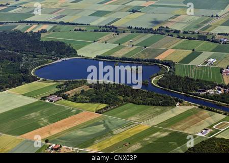 Wertach storage lake, Germany, Bavaria, Naturpark Augsburg-Westliche Waelder, Bobingen - Stock Photo
