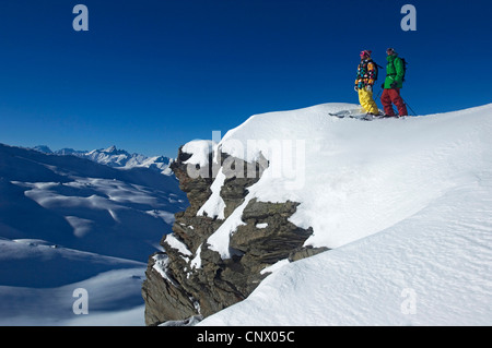 ski resort of Les M�nuires, north Alps mountain, France - Stock Photo
