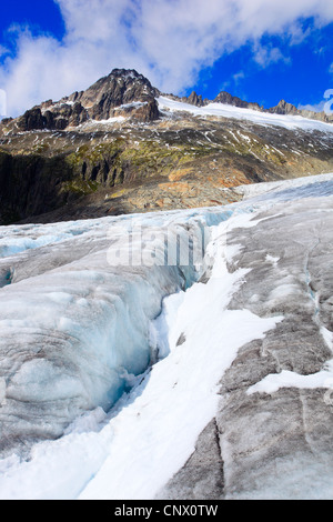 Rhone glacler at Furka pass, Switzerland, Valais, Oberwallis - Stock Photo