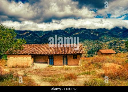The Sierra de los Cuchumatanes dominates the landscape in the vicinity of Aguacatan, Huehuetenango. - Stock Photo