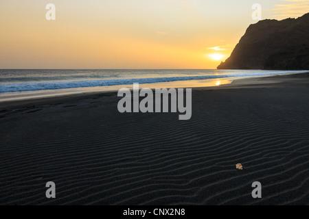 Sunset from a beach on São Vicente, Cape Verde - Stock Photo