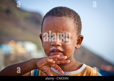 Young boy from São Vicente, Cape Verde - Stock Photo