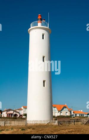 lighthouse 'Feu de Grosse Terre', France, Saint-Gilles-Croix-de-Vie - Stock Photo