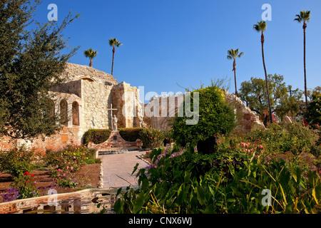 Mission San Juan Capistrano Church Ruins California - Stock Photo