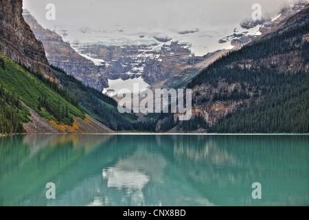 lake Louise with Victoria glacier, Canada, Alberta, Banff National Park