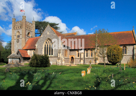 England Buckinghamshire Hambleden church - Stock Photo