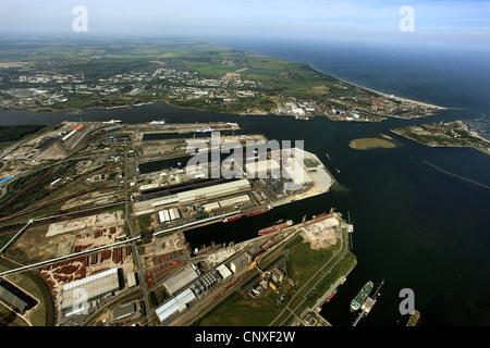 sea port, Germany, Mecklenburg-Western Pomerania, Rostock - Stock Photo