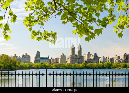 Jacqeuline Kennedy Onassis Reservoir, Central Park - Stock Photo