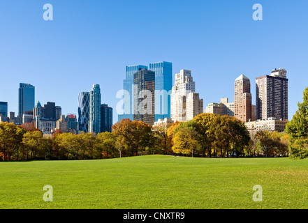 Central Park Skyline Time Warner Center 15 CPW - Stock Photo