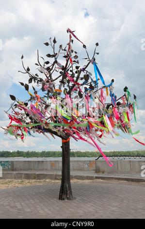 Wish Tree, Kiev, Ukraine, Europe.