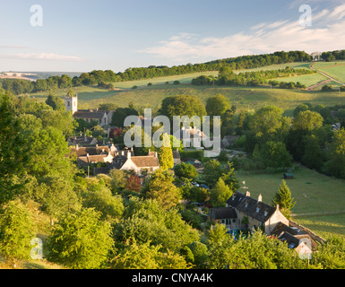 The picturesque village of Naunton in the Cotswolds, Gloucestershire, England. Summer (July) 2010. - Stock Photo