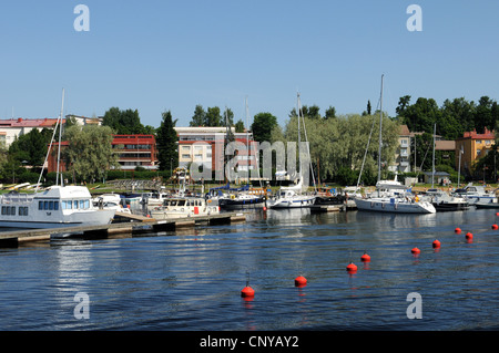 Savonlinna is a famous city in the region of Lake Saimaa in Finland - Stock Photo