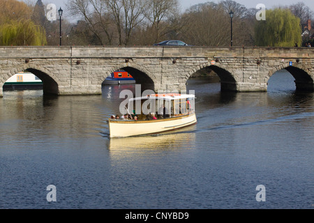 River Cruise in Stratford Upon Avon England on the River Avon - Stock Photo