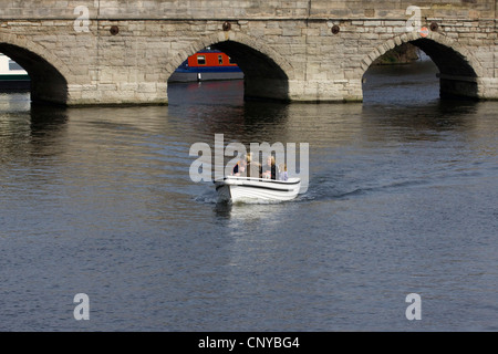 Boating in Stratford Upon Avon England on the River Avon - Stock Photo