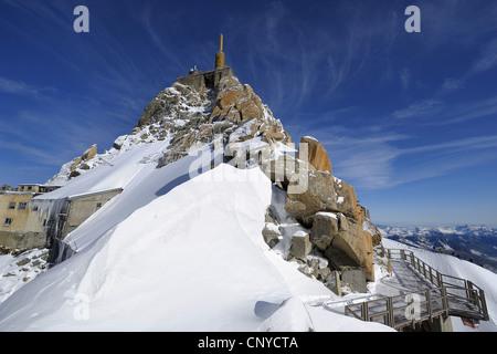 view to Aiguille du Midi, France, Mont Blanc - Stock Photo