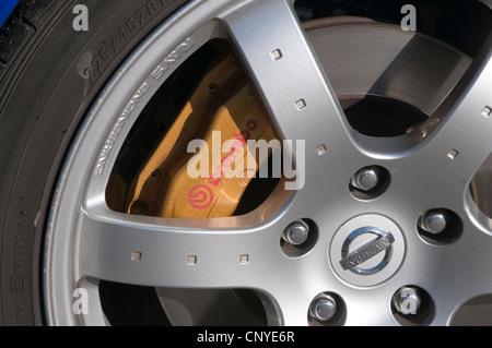 brembo brake brakes calipers caliper italian performance car parts cars nissan sport sports 350z - Stock Photo