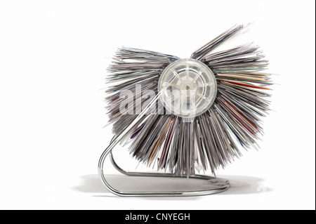 A rotary business card holder stock photo 47932692 alamy a rotary business card holder side view stock photo reheart Gallery