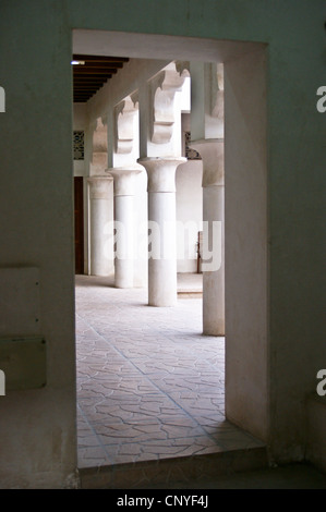 Mosque of the Ruler's Court,  at sunset, Bur Dubai, United Arab Emirates - Stock Photo