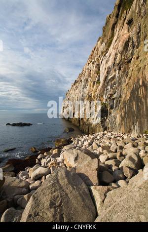 cliffs of 'Jons Kapel' near Hasle, Denmark, Bornholm - Stock Photo