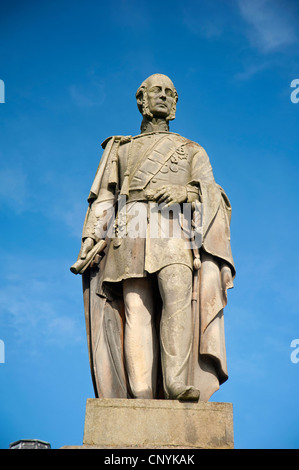 Statue of Charles Gordon Lennox Fifth Duke of Richmond in Huntly Aberdeenshire.  SCO 8175 - Stock Photo