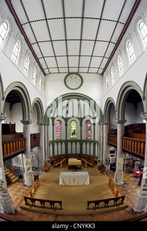 St Paul's Church interior, Honiton, Devon, England UK - Stock Photo