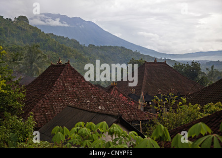 a rural village on the slopes of Gunung Agung, Indonesia, Bali - Stock Photo