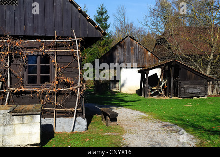 Kumrovec, Croatia, birthplace of Tito. A typical house - Stock Photo