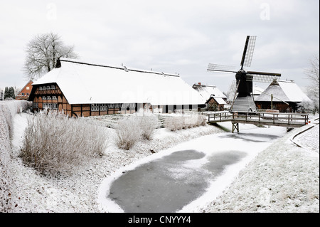 open-air museum Rieck-Haus, Germany, Curslack, Hamburg - Stock Photo