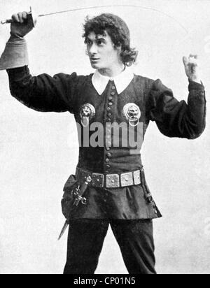 Kainz, Josef, 2.1.1858 - 20.9.1910, Austrian actor, as Hamlet in the play 'Hamlet' by William Shakespeare, Deutsches - Stock Photo