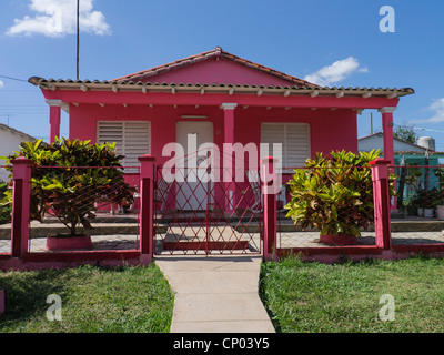 The Front Of A Typical Small Rural Cuban House As Viewed