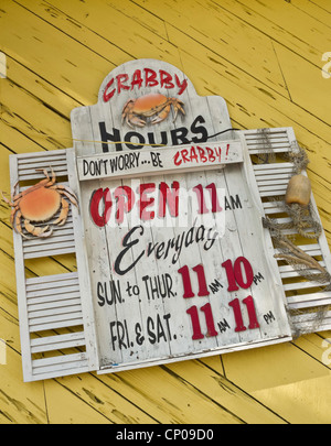 Crabby Bill's Seafood Restaurant, Clearwater Beach, FL, USA - Stock Photo