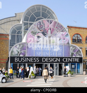 Visitors arriving at Country Living magazine Spring Fair taking place at the Business Design Centre and exhibition - Stock Photo