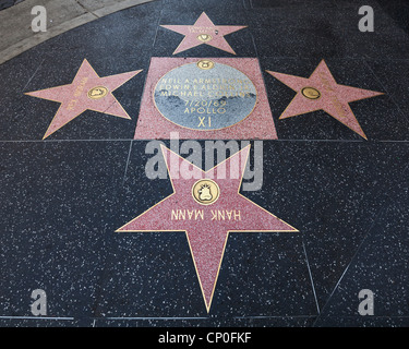 Hollywood Walk of Fame, Los Angeles - Stock Photo