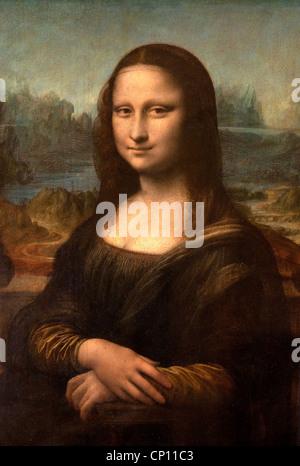 Mona Lisa La Gioconda 1503  Leonardo da Vinci 1425 - 1519 Louvre Italian painting - Stock Photo