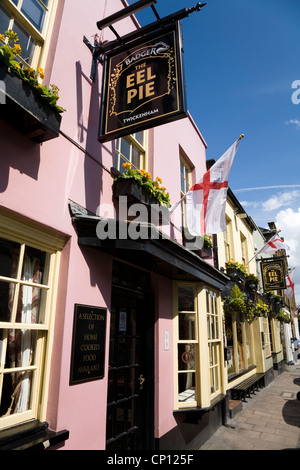 The Eel Pie pub / public house / tavern in Twickenham, popular with Rugby fans on match days. - Stock Photo