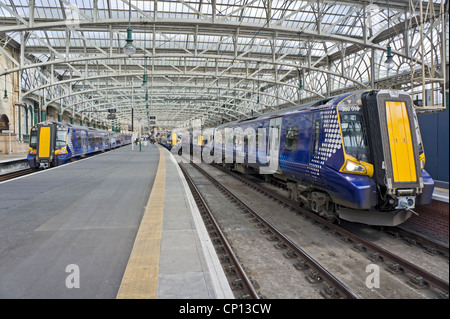 New Scotrail Class 380 EMU in Glasgow Central Station at platforms 12, 13 and 14 - Stock Photo