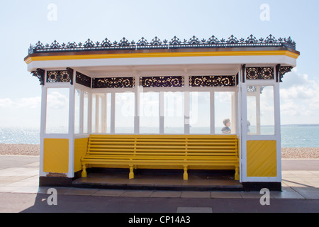 Historic shelter on Southsea Seafront Portsmouth - Stock Photo