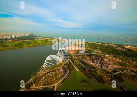 River Hongbao from Marina Bay Hotel viewpoint, Singapore. - Stock Photo