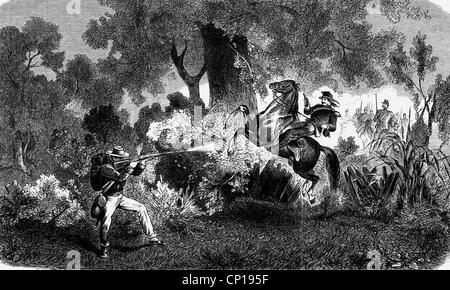 geography / travel, USA, American Civil War 1861 - 1865, 1st Battle of Bull Run (Manassas Junction), Virginia, 21.7.1861, - Stock Photo