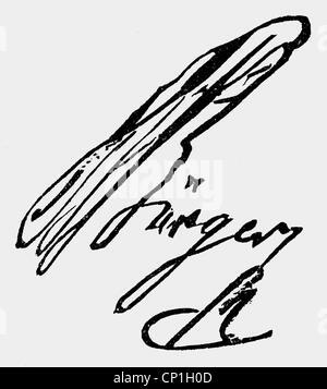 Buerger, Gottfried August, 31.12.1747 - 8.6.1794, German author / writer, signature, , - Stock Photo