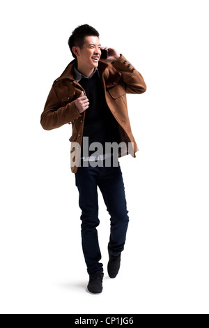 Stylish young man with moblie phone - Stock Photo