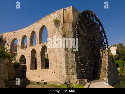 The Norias of Bechriyyat, Hama, Syria - Stock Photo