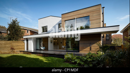Building exterior of private house in Worsley, Salford, Greater Manchester, England, UK. - Stock Photo